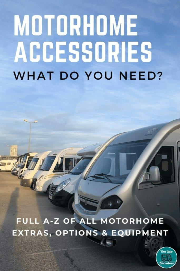 Motorhome equipment and options