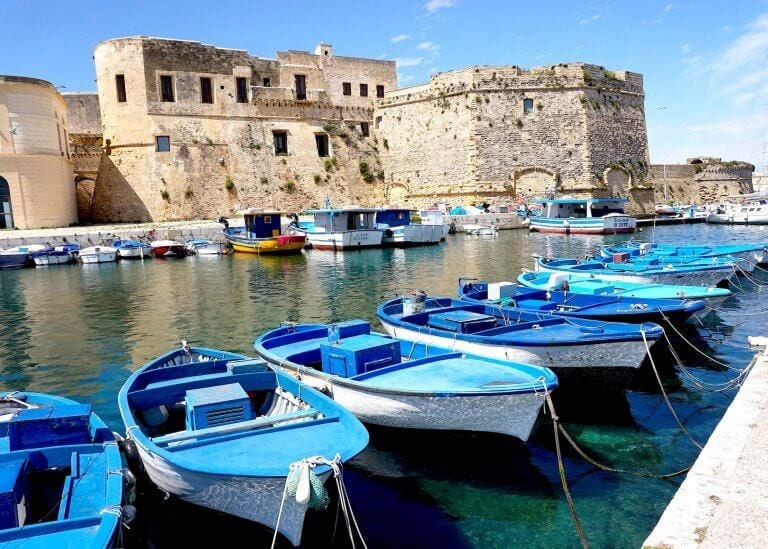Gallipoli second stop on a Puglia itinerary 7 days road trip