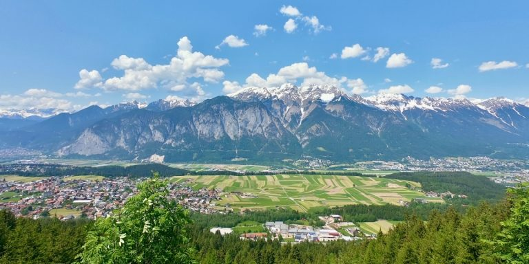 Innsbruck Austra view from nearby mountains