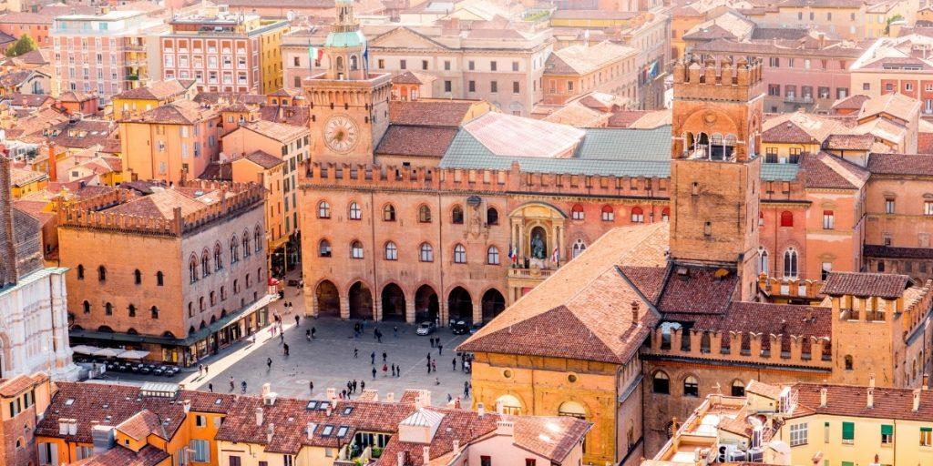 Aerial view of Bologna Emilia-Romagna