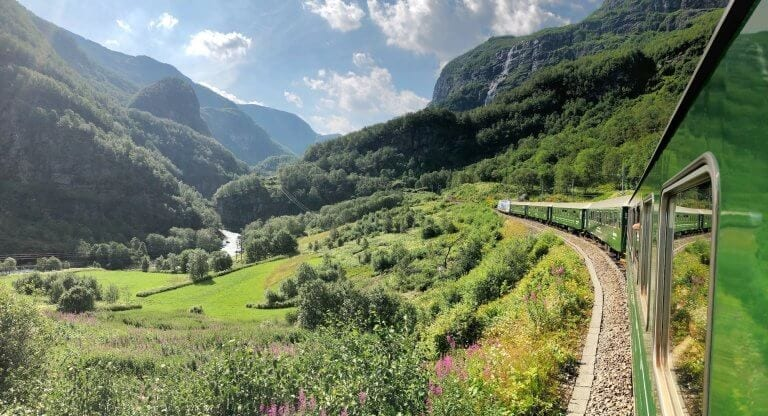 Visit Bergen from Flam on the Flamsbana line