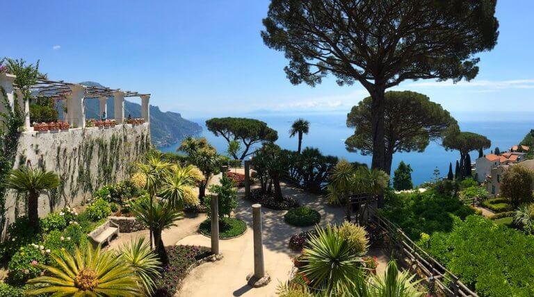 View from the Amalfi Coast, the best Italian coast road trip