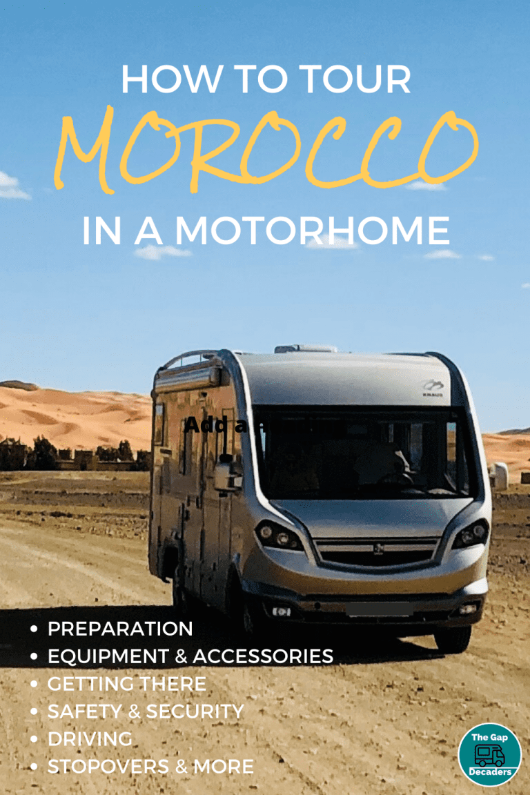 Tour Morocco in a motorhome