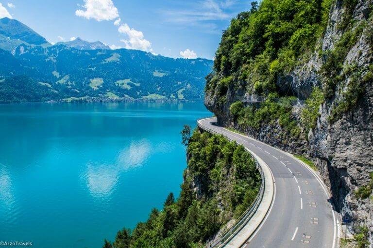 Driving in Thun and Switzerland around Lake Thun with Arzo Travels_