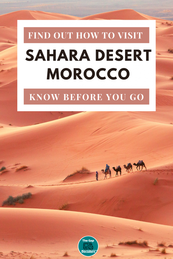 the desert of Sahara in Morocco