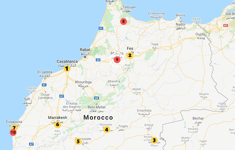 Morocco road trip 10 days