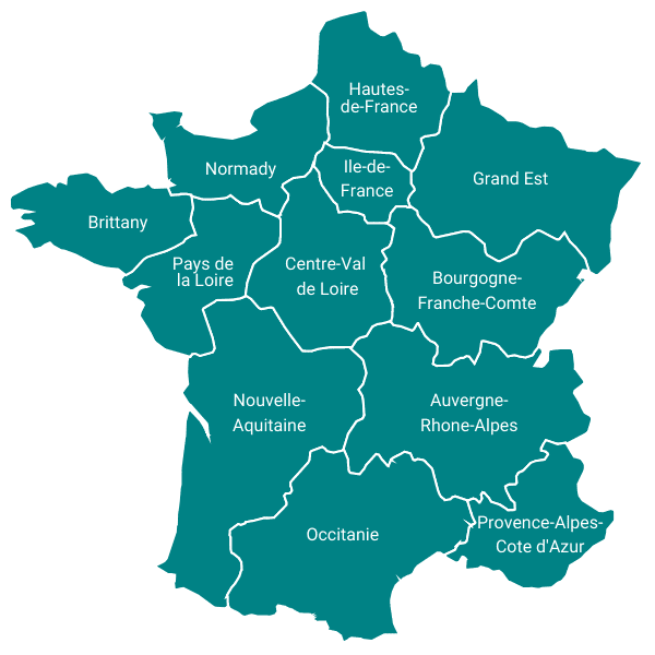 Motorhome Holidays in France Map