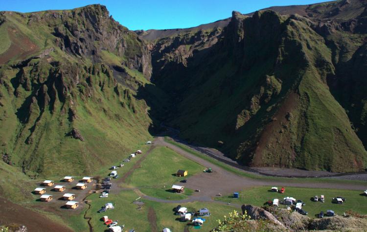 Camping near Vik, Iceland