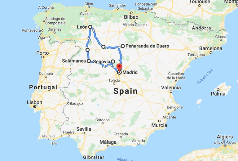 Castille Leon Spain Road Trip itinerary