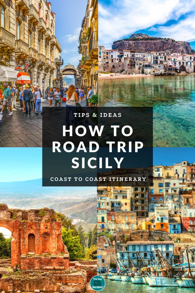 Coast to coast road trip Sicily