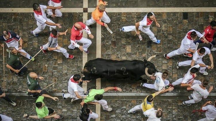 running of the bulls Pamplona