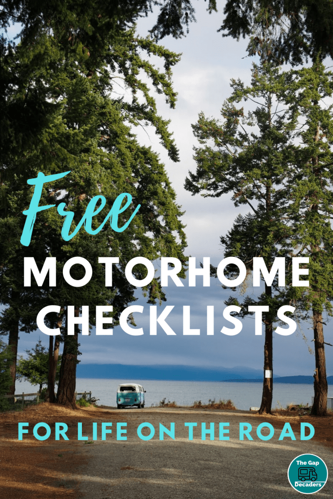 Free motorhome checklists for life on the road
