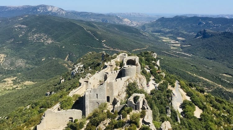 Peyrepertuse in Cathar Country, non touristy south of France