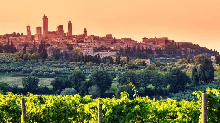 San Gimignano, one of the best places to visit on a road trip to Italy