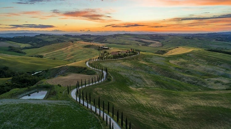 Val d'Orcia best of Italy scenic drives