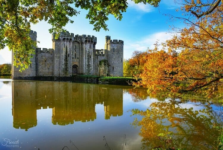 Bodiam castle and moat, one of the best countryside breaks UK