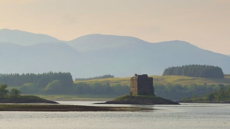 Castle Stalker, a must see on any Scottish Highland tours