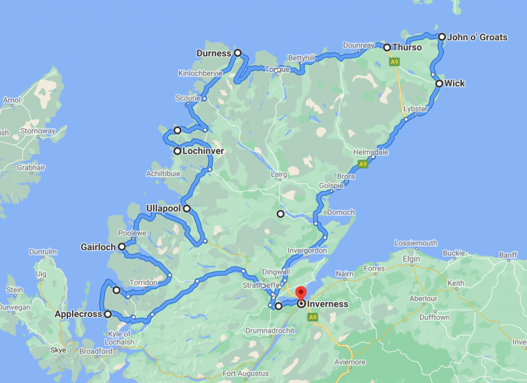Scotland Highlands Road Trip Itinerary and Map
