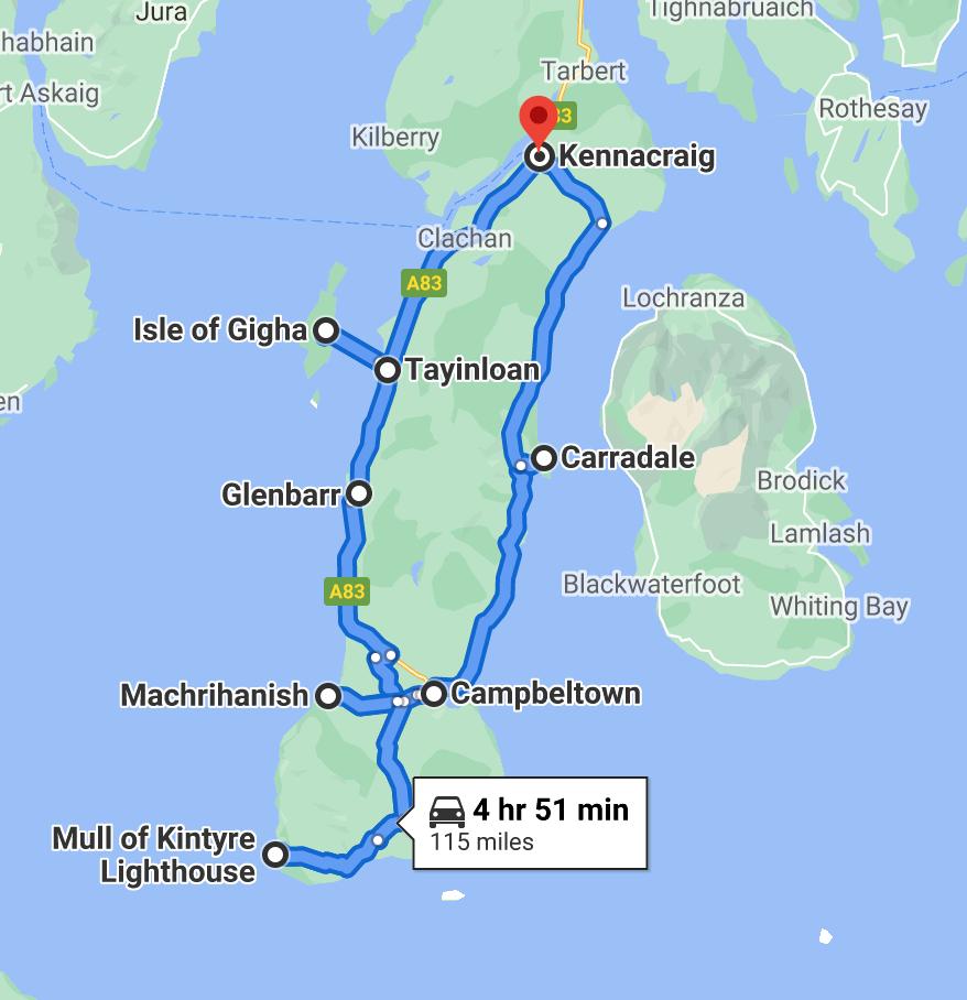 Kintyre 66 map