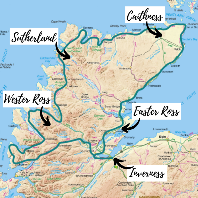North Coast 500 route planner and North Coast 500 map