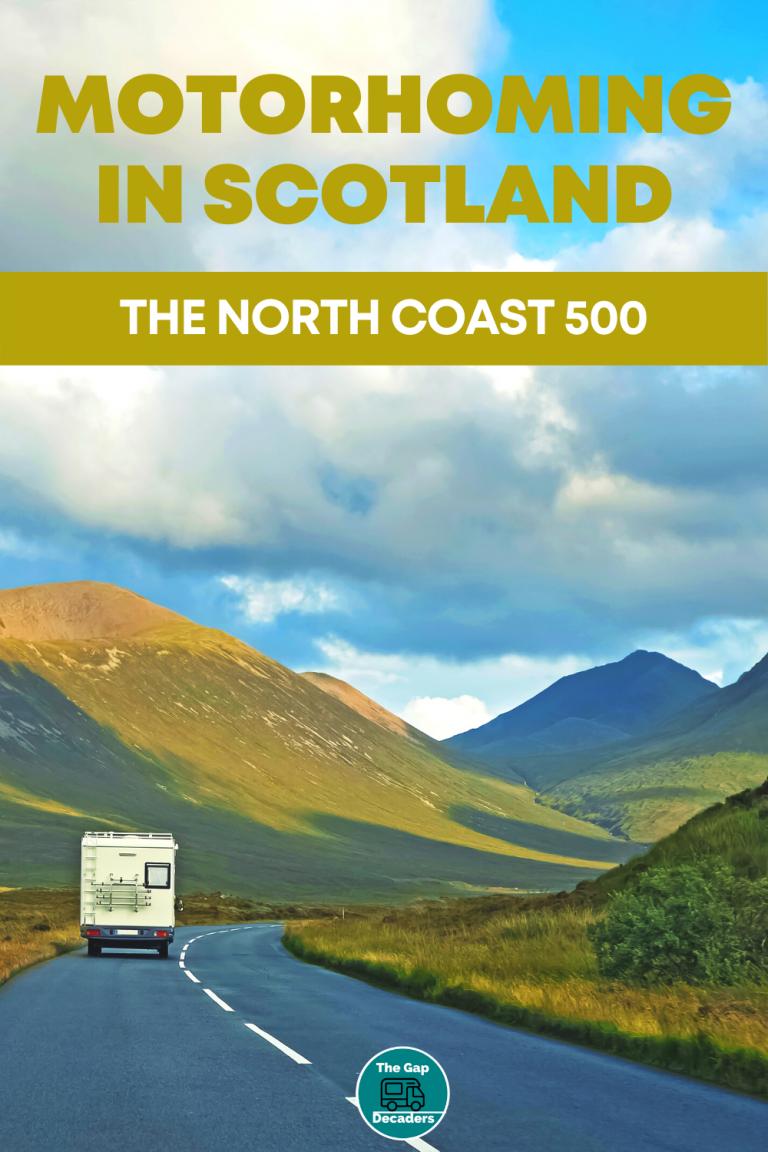 North Coast 500 wild camping campervan in Scotland