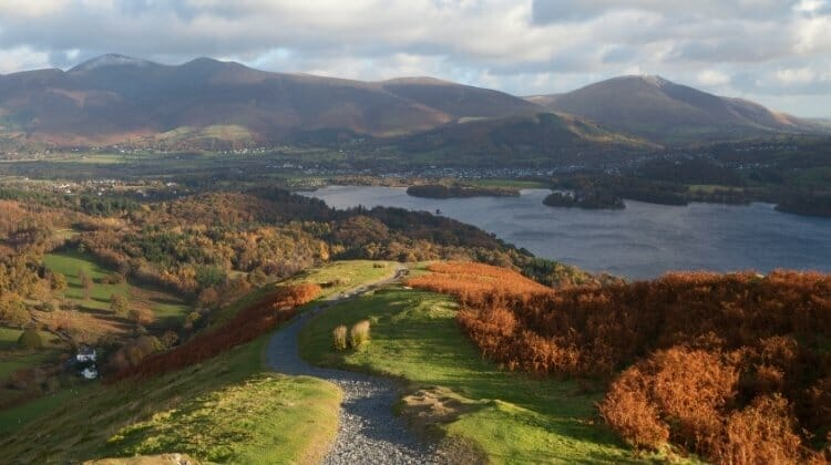 The beautiful Lake District in autumn