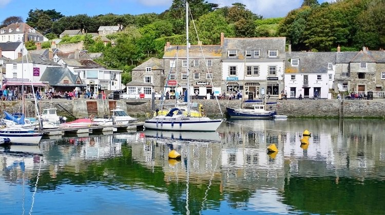 Fishing boats in Padstow harbour on a Great Britain road trip