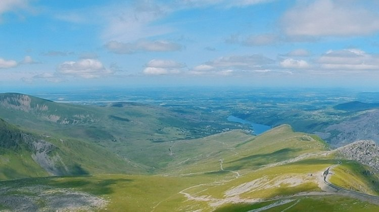 Views of Anglesey from Snowdon