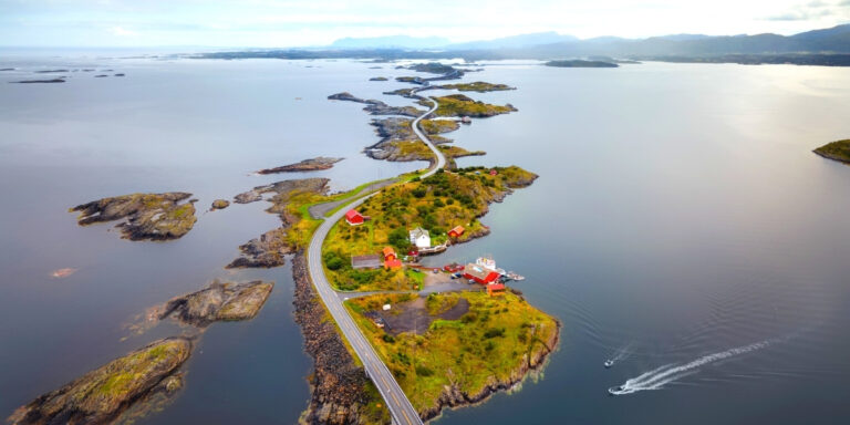 road across islands and sea Norway